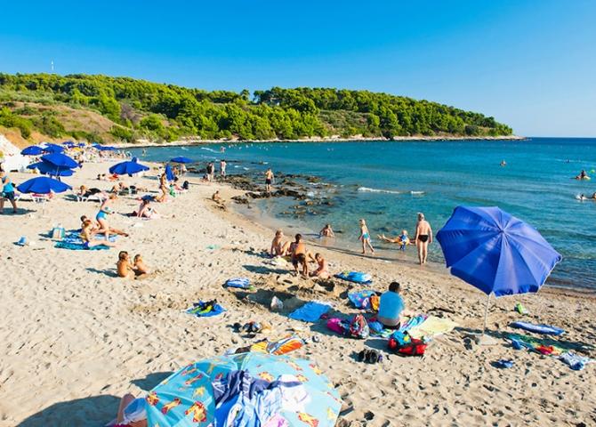 Przina Beach Vela Przina Lumbarda Korcula Island Croatia